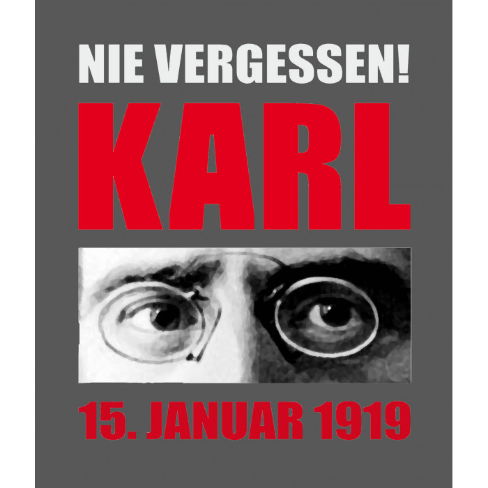 """Kapuzenjacke """"Nie Vergessen! Karl"""""""
