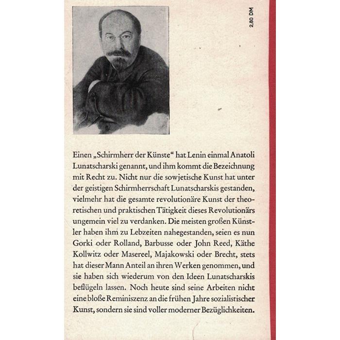 Anatoli Lunatscharski - Die Revolution und die Kunst