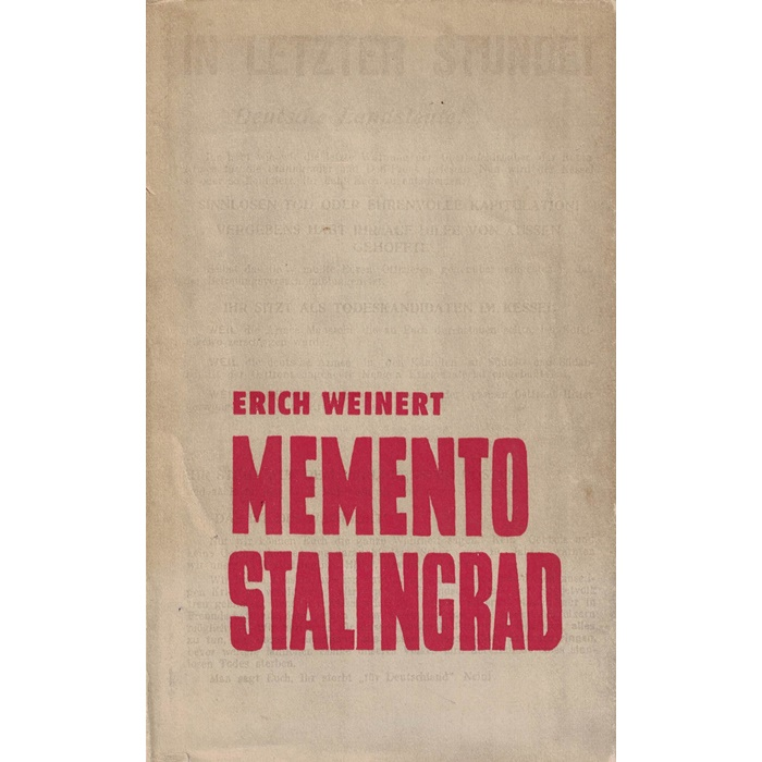 Erich Weinert Memento Stalingrad - Ein Frontnotizbuch