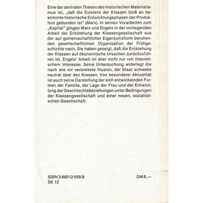 Friedrich Engels - Der Ursprung der Familie, der Privateigentums und des Staates