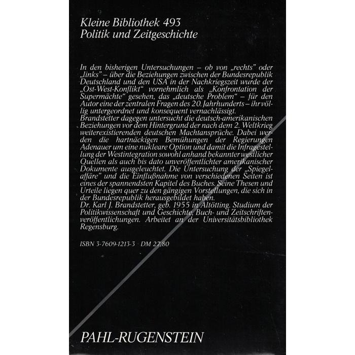 Karl J. Brandstetter - Allianz des Misstrauens