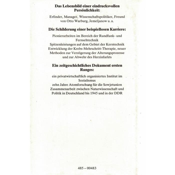 Manfred von Ardenne - Mein Leben für Fortschritt und Forschung