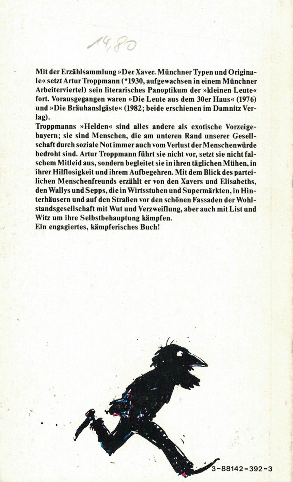 Artur Troppmann - Der Xaver - Münchner Typen und Originale
