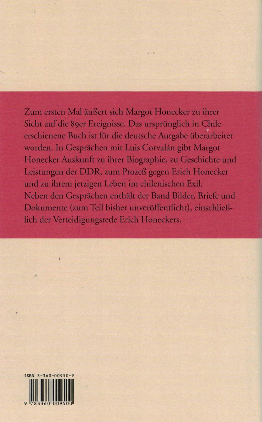 Luis Corvalán: Gespräche mit Margot Honecker über das andere Deutschland