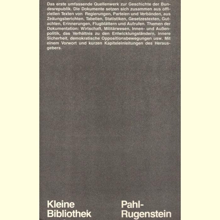 Georg Fülberth - Geschichte der Bundesrepublik in Quellen und Dokumenten