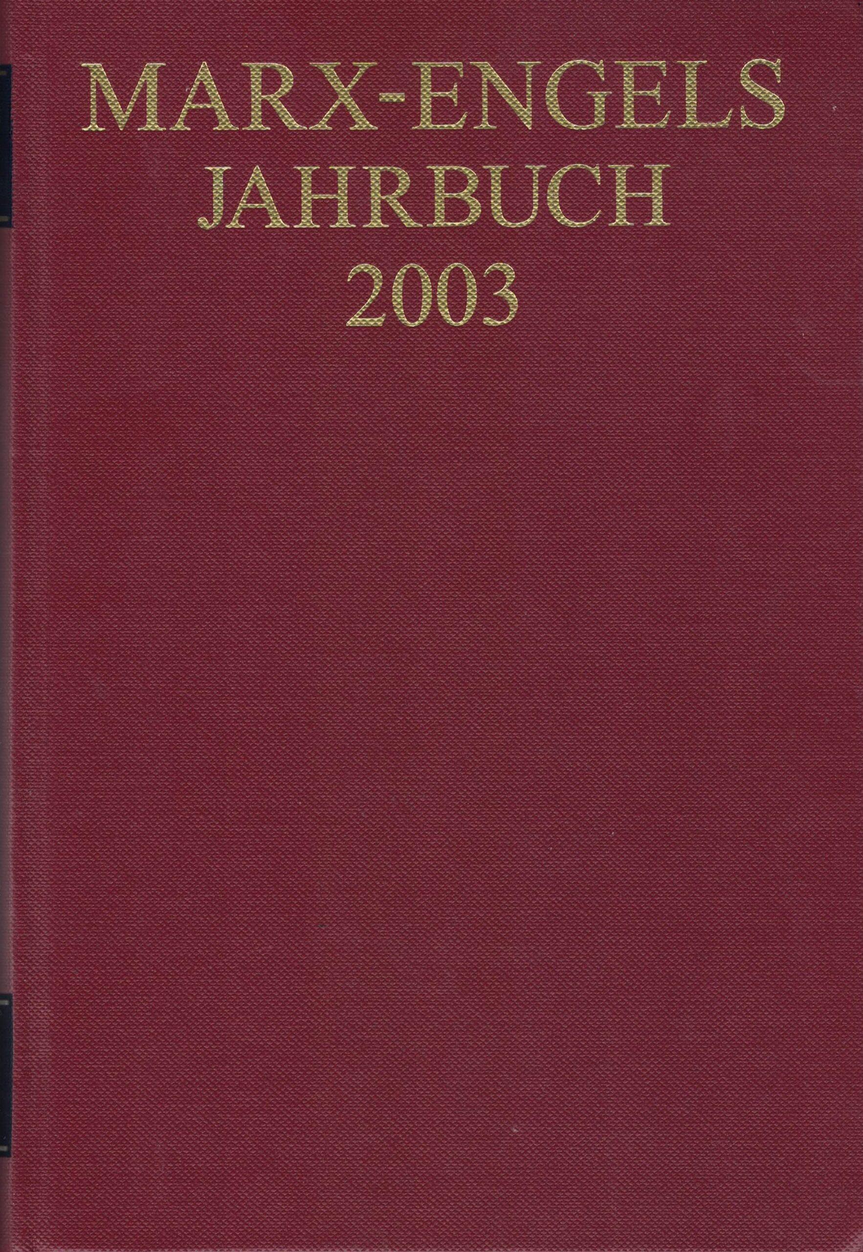 Marx-Engels-Jahrbuch 2003