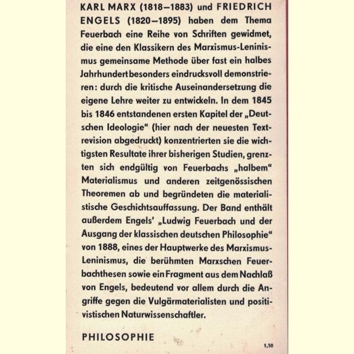 Marx/Engels - Über Ludwig Feuerbach