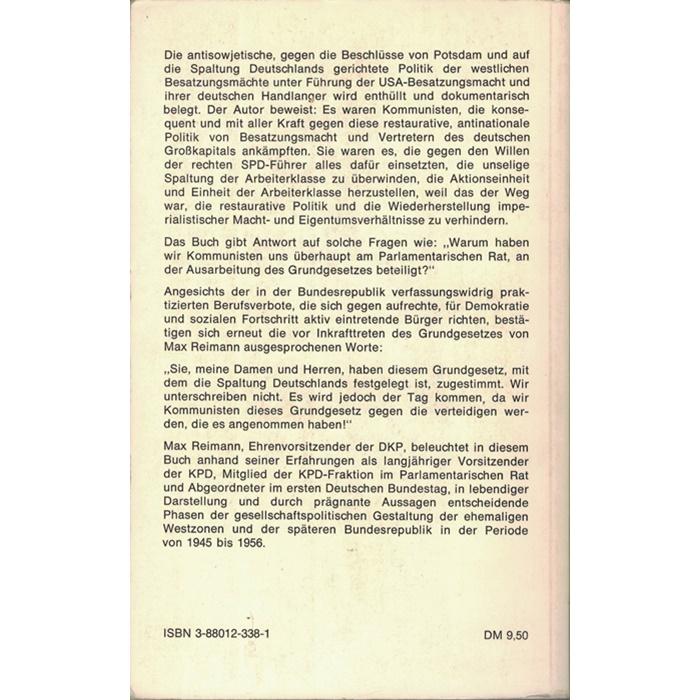 Max Reimann - Entscheidungen 1945 - 1956