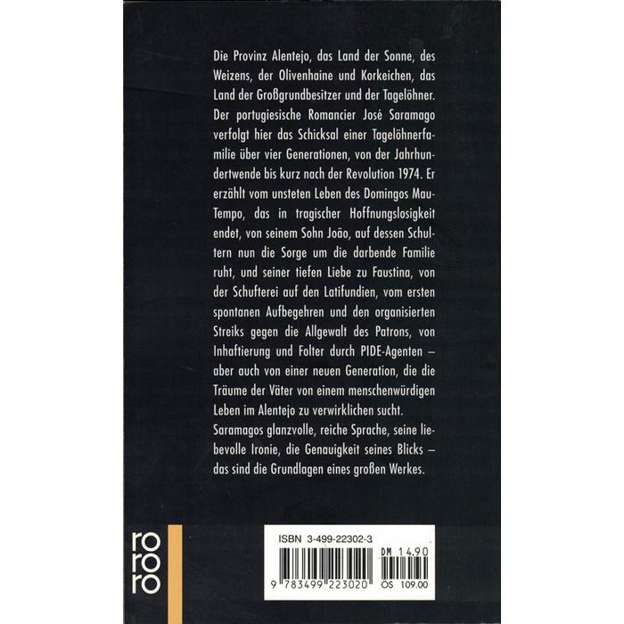 José Saramago, Hoffnung im Alentejo - Roman