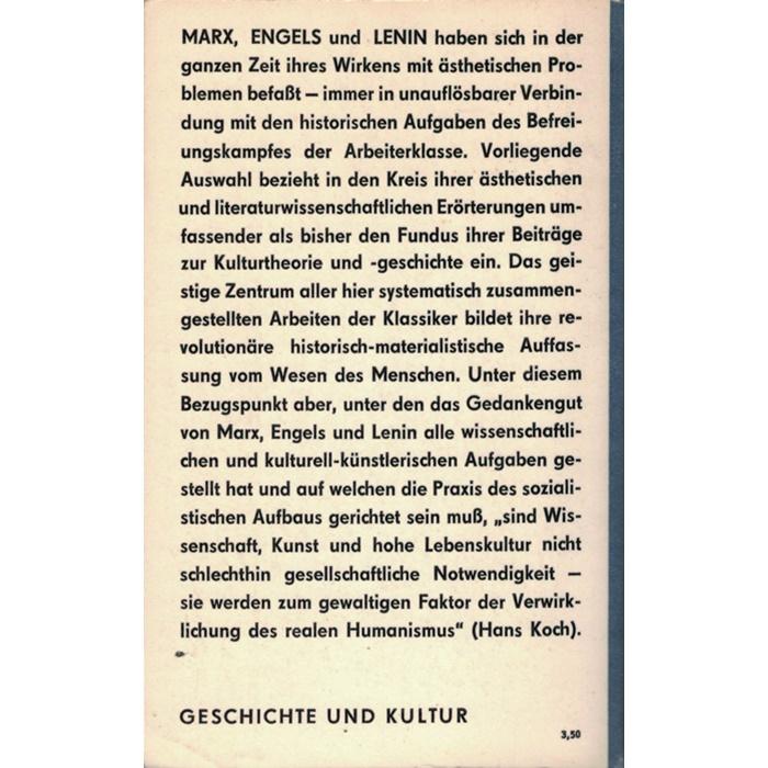 Marx/Engels/Lenin, Über Kultur Ästhetik Literatur