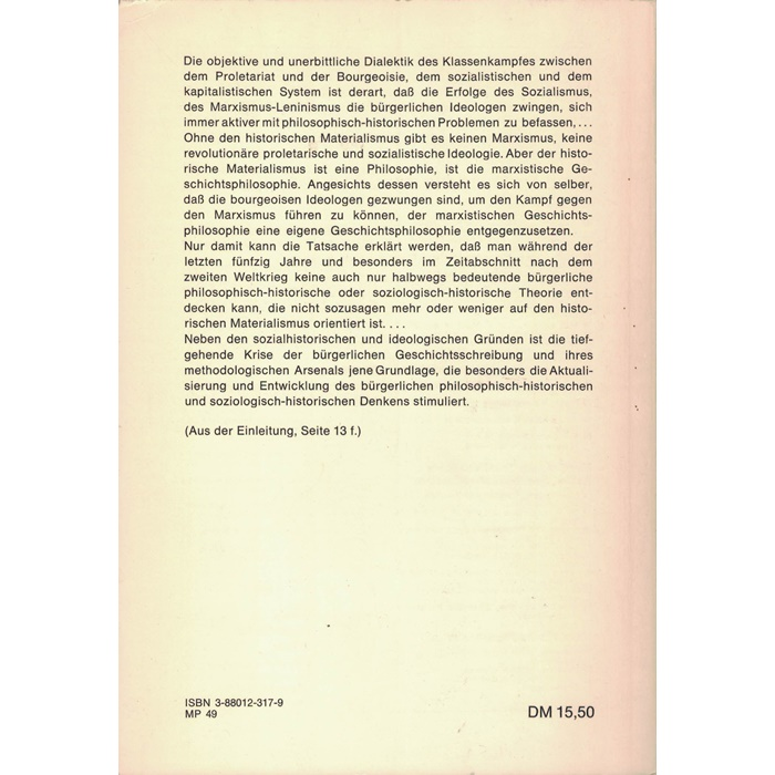N. Iribadschakow, Zur Kritik der bürgerlichen Geschichtsphilosophie