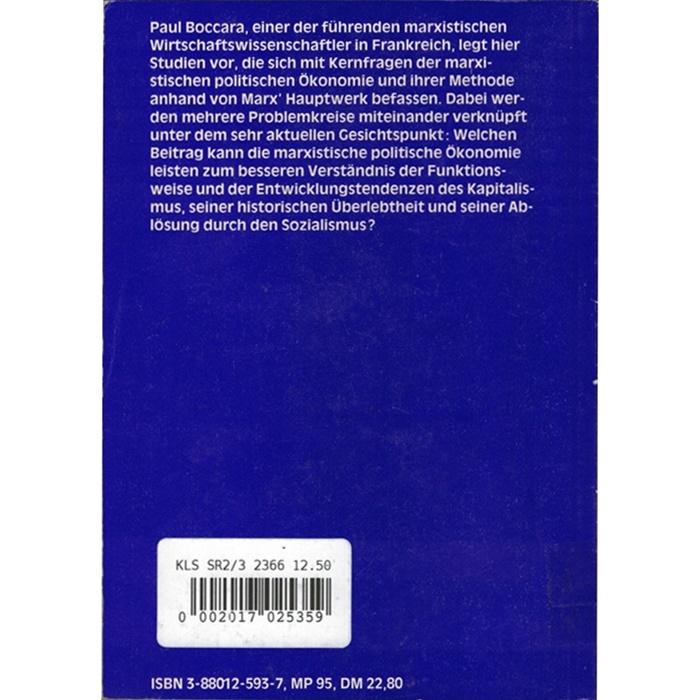 """Paul Boccara, Studien über """"Das Kapital"""""""