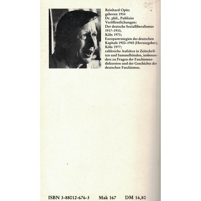 Reinhard Opitz, Faschismus und Neofaschismus