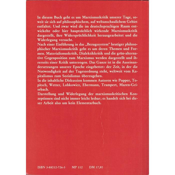 Robert Steigerwald, Marxismuskritik heute / Probleme, Widersprüche, Widerlegungen