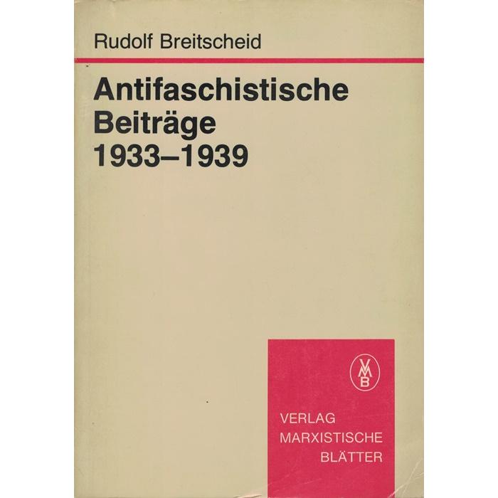 Rudolf Breitscheid, Antifaschistische Beiträge 1933 - 1939