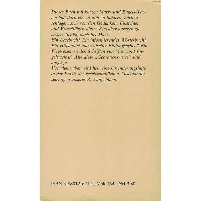 Schlag nach bei Marx - Kleines Marx-Wörterbuch von Richard Kumpf