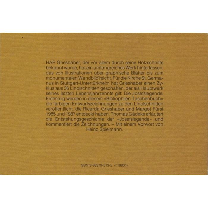 Thomas Gadeke (Hrsg.) HAP Grieshaber - Die Josefslegende