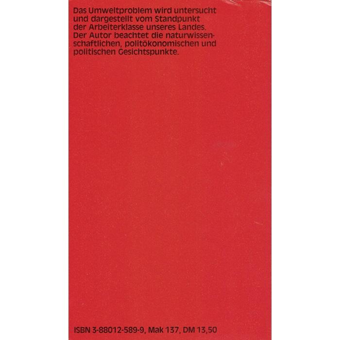Edgar Gärtner, Arbeiterklasse und Ökologie