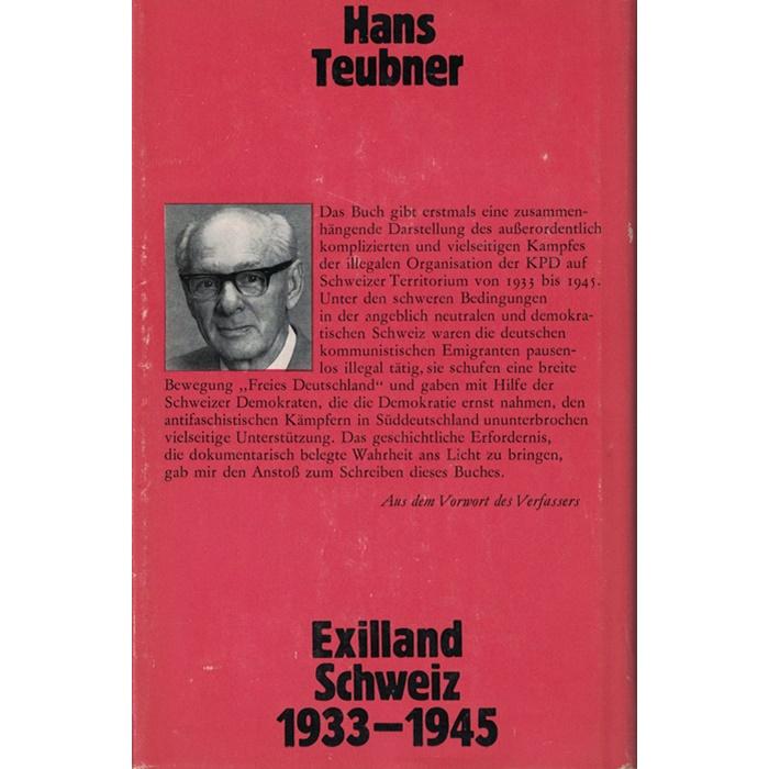 Hans Teubner, Exilland Schweiz