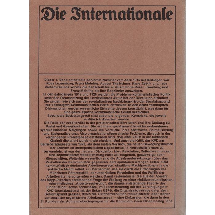 Die Internationale - Zeitschrift für Praxis und Theorie des Marxismus