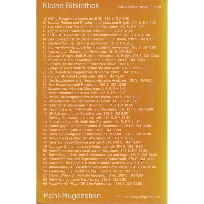 Fülberth, Harrer, Stuby u. a., Geschichte der deutschen Sozialdemokratie 1863 - 1975