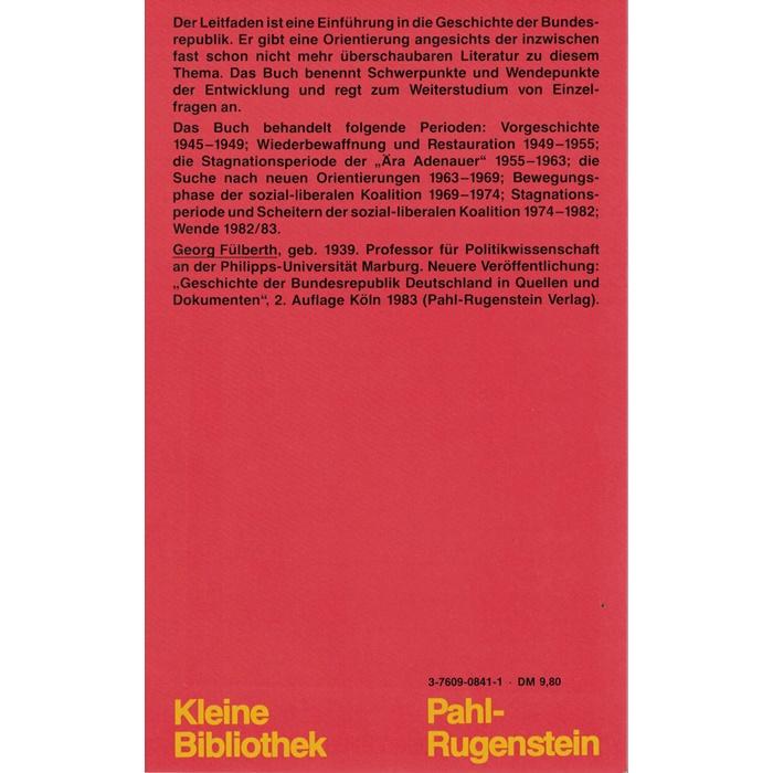 Georg Fülberth, Leitfaden durch die Geschichte der Bundesrepublik