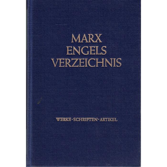 Marx-Engels-Werke - Verzeichnis der Werke, Schriften, Artikel