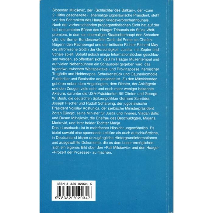 Ralph Hartmann, Der Fall Milosevic - Ein Lesebuch