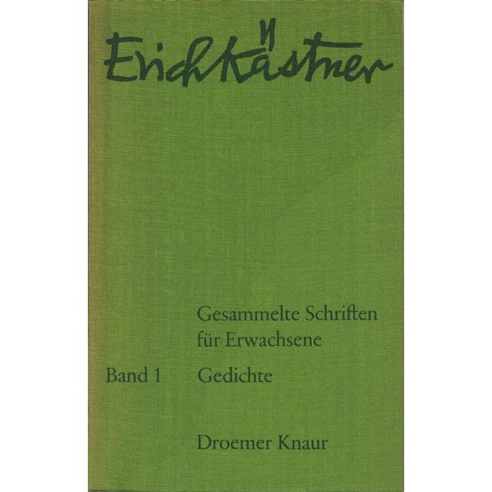 Erich Kästner, Gesammelte Schriften für Erwachsene - Werke in 8 Bänden