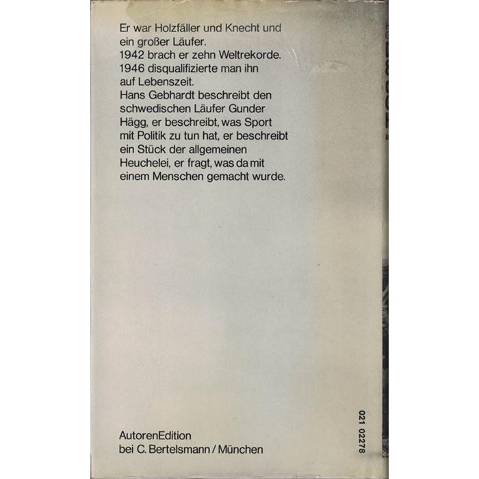 Hans Gebhardt, Die 80 Tage des Gunder Hägg - Roman