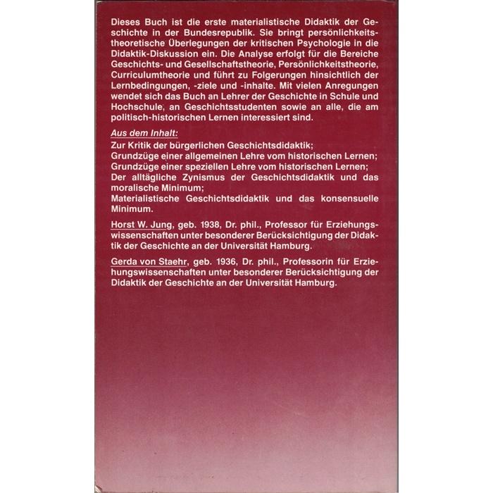 Jung/Staehr, Historisches Lernen - Didaktik der Geschichte