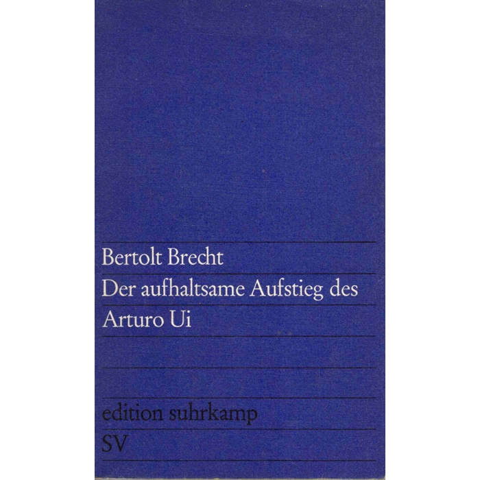 Brecht Aufstieg Arturo