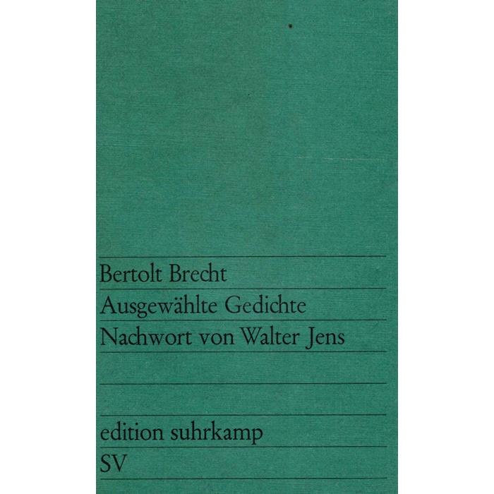 Brecht Gedichte